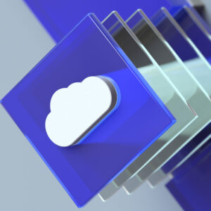 stacked plates with cloud logo